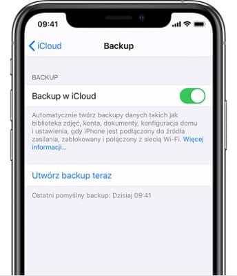 Backup w iCloud
